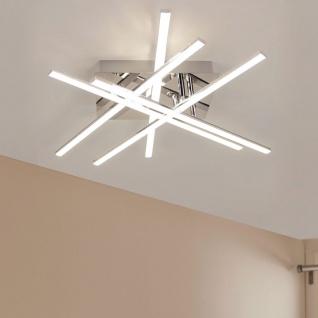 Licht-Trend LED-Deckenleuchte 50x50cm mit Kristallen Chrom LED-Deckenlampe