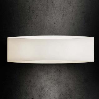 Holtkötter Wandleuchte Glas 34, 5cm weiss Wandlampe