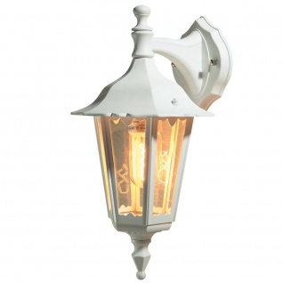 Konstsmide 7231-250 Firenze Aussen-Wandleuchte Weiß klares Glas