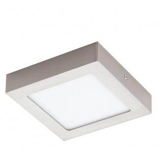 Eglo 32444 Fueva 1 LED Aufbaulampe 17 x 17cm 1350lm Nickel-Matt