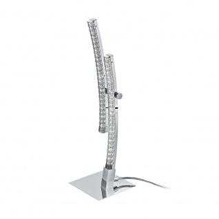Eglo 96098 Pertini LED Tischleuchte 1000lm Chrom Transparent