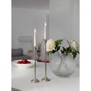 Konstsmide 1876-210 LED Kerzen 2er-Set weiß klein flackernde Dioden mit an/aus Schalter 2 warmweisse flackernde Dioden batteriebetrieben für Innenbereich