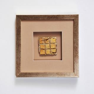 Holländer 306 3152 Wandbild Goia 1 Holz-Glas-Kunststein Silber-Gold-Sand