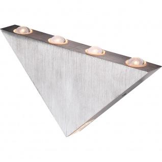 Wandleuchte GORDON Aluminium gebürstet 5xLED Wandlampe Aussen