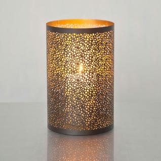 Holländer 257 3528 G Windlicht Punti Gross Metall Braun-Gold