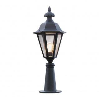 Konstsmide 478-750 Pallas Leuchtenkopf für Mastleuchte Schwarz rauchfarbenes Acrylglas