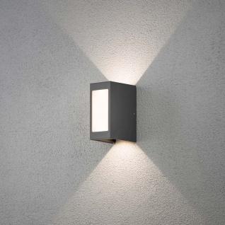 Konstsmide 7992-370 Cremona LED Aussen-Wandleuchte Lichtstrahl einstellbar Anthrazit