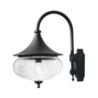 Konstsmide 619-750 Libra Aussen-Wandleuchte Schwarz klares Glas