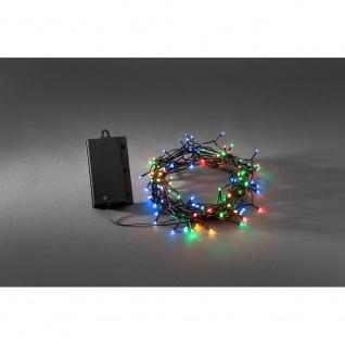 LED Lichterkette Lichtsensor Timer 240 bunte Dioden batteriebetrieben für Aussen