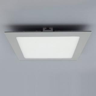 Licht-Design 30612 Einbau LED-Panel 1440lm Dimmbar 22x22cm Kalt Silber
