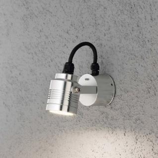 Konstsmide 7903-310 Monza LED Aussen-Wandleuchte schwenkbar massives Aluminium