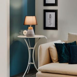 Licht-Trend Unit Beton-Tischleuchte mit Holzumrandung Grau & Braun Tischlampe