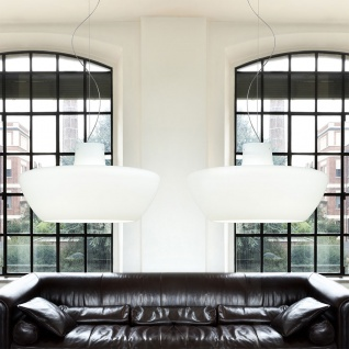 Casablanca Corpo E LED Pendelleuchte Doppelpendel Aluminium gebürstet Pendellampe
