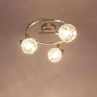 LED Strahler Bolt 3-flg. Chrom, Silber-Metallic, Klar