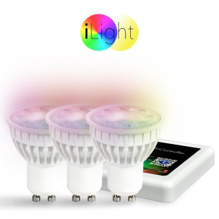 Starter-Set 3x GU10 iLight LED + WiFi-Box RGB+CCT LED Leuchtmittel Lampe
