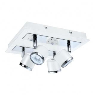 Eglo 94559 Pierino 1 LED Spot 4 x 5 W Stahl Weiß Chrom