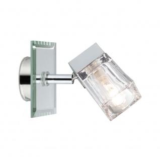 WallCeiling Trabani IP44 max. 20W G9 Chrom/Transparent 230V Metall/Glas