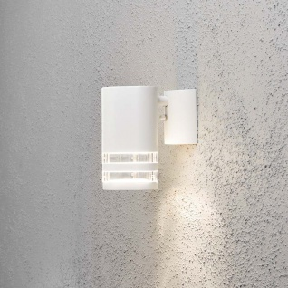 Konstsmide 7515-250 Modena Aussen-Wandleuchte Weiß klares Acrylglas Reflektor