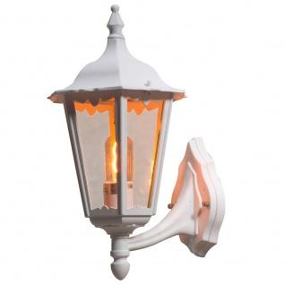 Konstsmide 7213-250 Firenze Aussen-Wandleuchte Weiß klares Glas