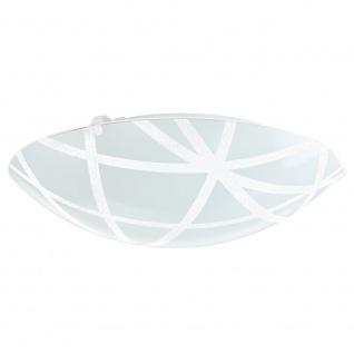 Eglo 92751 Sabbio Wand- & Deckenleuchte Ø 31, 5cm Weiß Klar Weiß