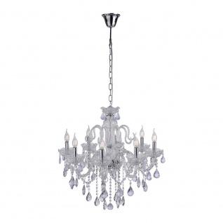 paul neuhaus 3081 00 gracia pendelleuchte inkl kristallanh nger 8 x e14 40w transparent. Black Bedroom Furniture Sets. Home Design Ideas