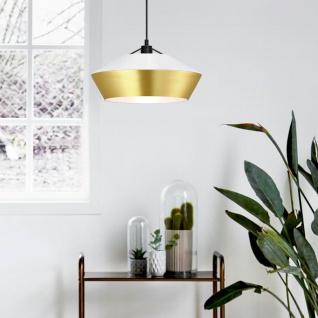 s.LUCE LED Hängelampe SkaDa Ø 40cm in Weiss Gold Esstischleuchte Esszimmerlampe - Vorschau 3