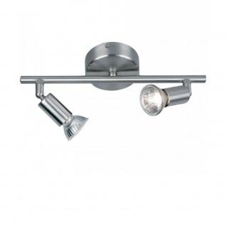HOT SPOT Decken- & Wandleuchte 2-flammig alu-matt Deckenlampe