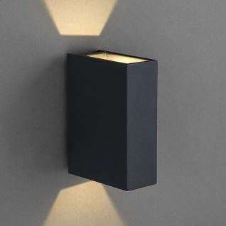 Licht-Trend Dra LED Aussen-Wandleuchte 12cm Up&Down Anthrazit