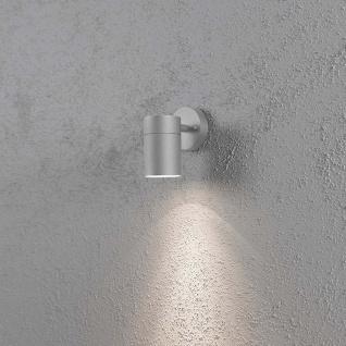 Konstsmide 7657-300 Modena Aussen-Wandleuchte Grau klares Glas Reflektor