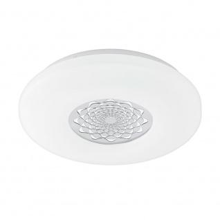 Eglo 96025 Capasso 1 LED Deckenleuchte Glitzer Ø 34cm 2100lm Weiß Chrom