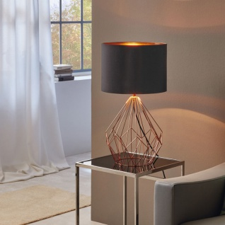 Licht-Trend Bosco Retro Tischleuchte Vintage-Look Kupfer & Schwarz Tischlampe