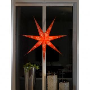 Konstsmide 2978-500 Roter Papierstern perforiert 7 Zacken inkl. Anschlusskabel mit an/aus Schalter ohne Leuchtmittel E14 Lampenhalterung für Innenbereich