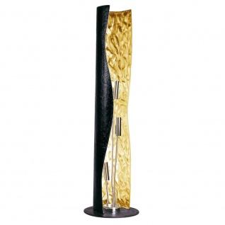 s.LUCE Blister Stehleuchte 3-flammig 130cm Schwarz Gold Design Stehlampe - Vorschau 1