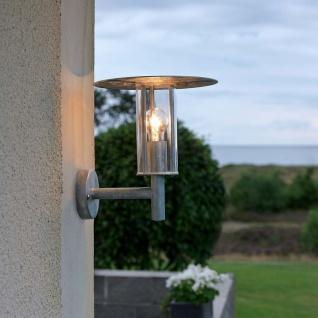Konstsmide 660-320 Mode Aussen-Wandleuchte / galvanisierter Stahl, klares Polycarbonat Glas
