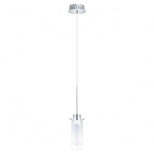 Eglo 31501 Aggius 1 LED Hängeleuchte Ø 13cm Weiß Klar Chrom