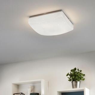 Eglo 96029 Giron-S LED Deckenleuchte mit Kristalleffekt 28 x 28cm 1300lm Weiß