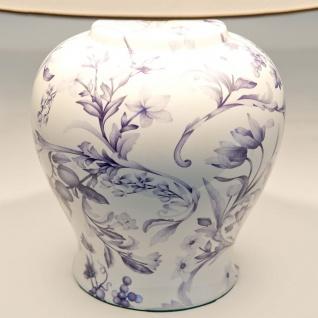 Holländer 014 K 1253 Tischleuchte Clematis Keramik Blau-Weiss - Vorschau 2