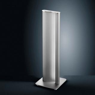 Helestra LED Tischleuchte Kurvo Nickel-Matt Chrom