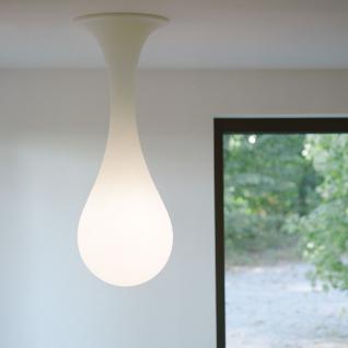 next Drop_1 Deckenleuchte / H: 100 cm / Liquid-Light / Weiss / Deckenlampe