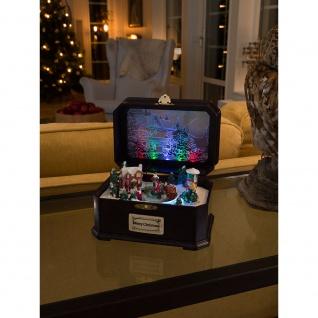 """Konstsmide 3405-000 LED """" Spieluhr mit Kindern"""" mit Geräuschsensor Animation und 8 klassischen Weihnachtsliedern 6 bunte Diode batteriebetrieben für Innenbereich"""