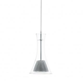 Licht-Trend LED-Pendelleuchte 1-flammig Glas silber Hängelampe