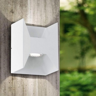 Eglo Morino LED Aussen-Wandleuchte 2-flammig Weiß Eglo Morino LED Aussen-Wandleuchte 2-fl