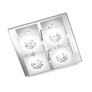 Wofi Reims LED Deckenleuchte 4-flammig Chrom Deckenlampe