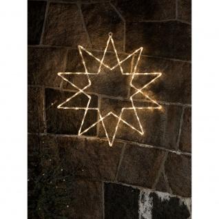 LED Acryl Stern 10 Zacken 120 Warmweiße Dioden 24V Außentrafo