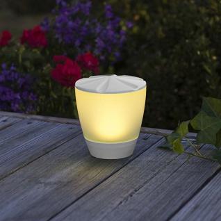 Solar LED Leuchte Assisi Turner Weiß Solar Gartenlampe Gartenleuchte