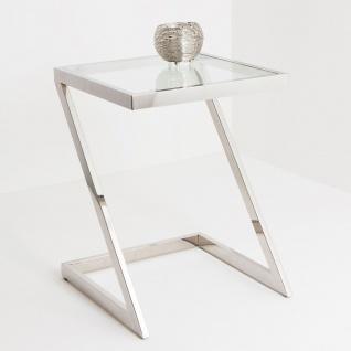 Holländer 209 2509 K Tisch Bilancia Klein Edelstahl-Glas Silber-Klar