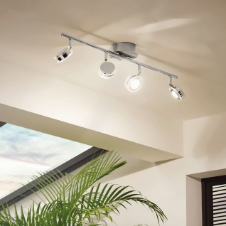 Eglo 94539 Sarolo LED Spot 4 x 33 W Edelstahl Chrom Kunststoff transparent