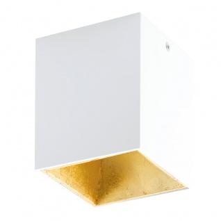 Eglo 94498 Polasso Deckenleuchte Alu Kunststoff Weiß Gold