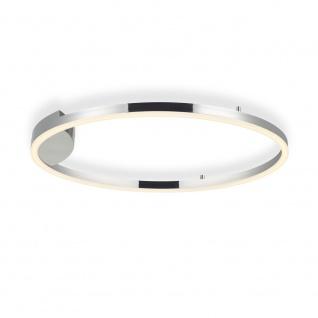 s.LUCE pro LED-Deckenlampe Ring L Dimmbar Ø 80cm in Chrom Wohnzimmer Ring Deckenlampe - Vorschau 3