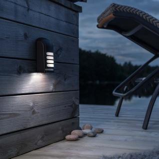 Konstsmide 7694-750 Prato Batterie LED Wandaufbauleuchte mit Bewegungsmelder 12V Schwarz